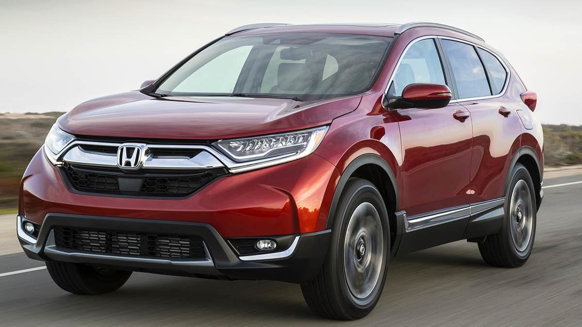Honda CR-V driving with troubled CR-V engine.