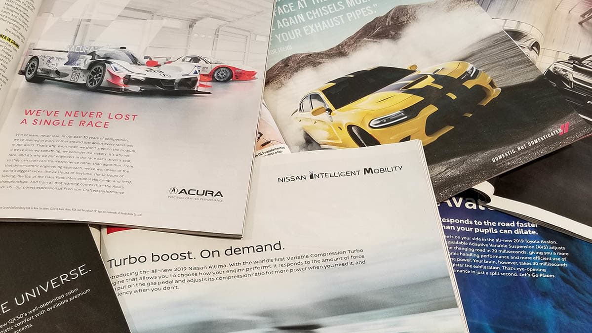 Car ad analysis with magazine ads.
