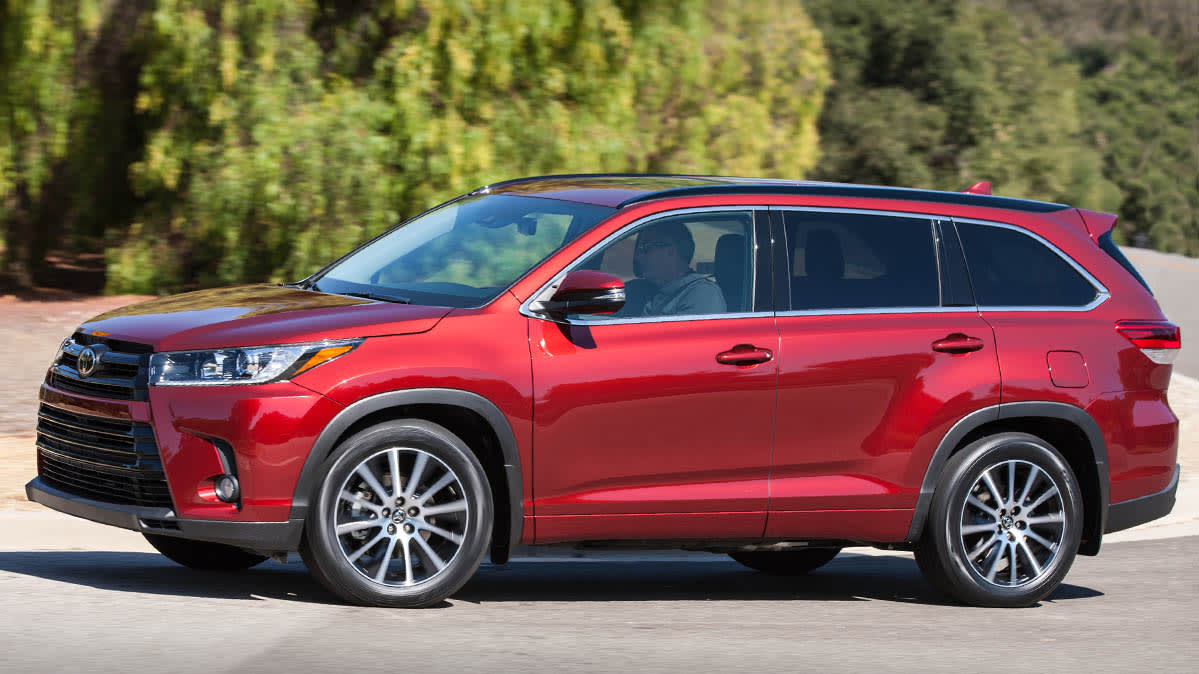 Best SUVs include the 2018 Toyota Highlander