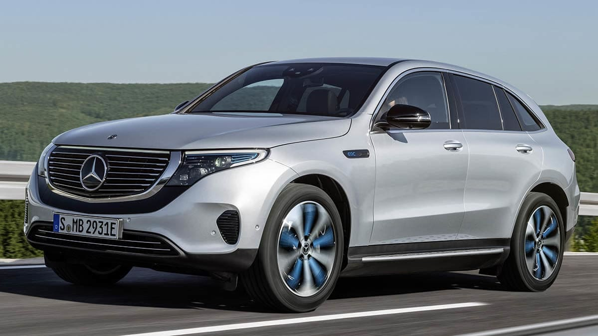 2020 Mercedes-Benz EQC driving