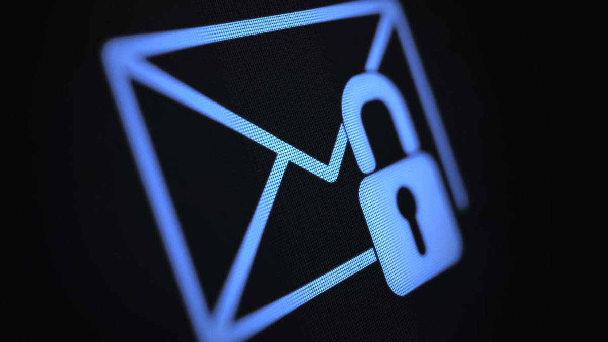 An illustration of an envelope protected by a padlock for an article on encrypted mail.