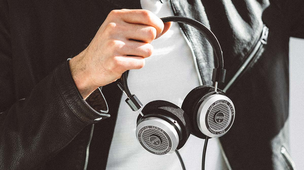 The Grado SR325e, one of Consumer Reports best rated wired headphones