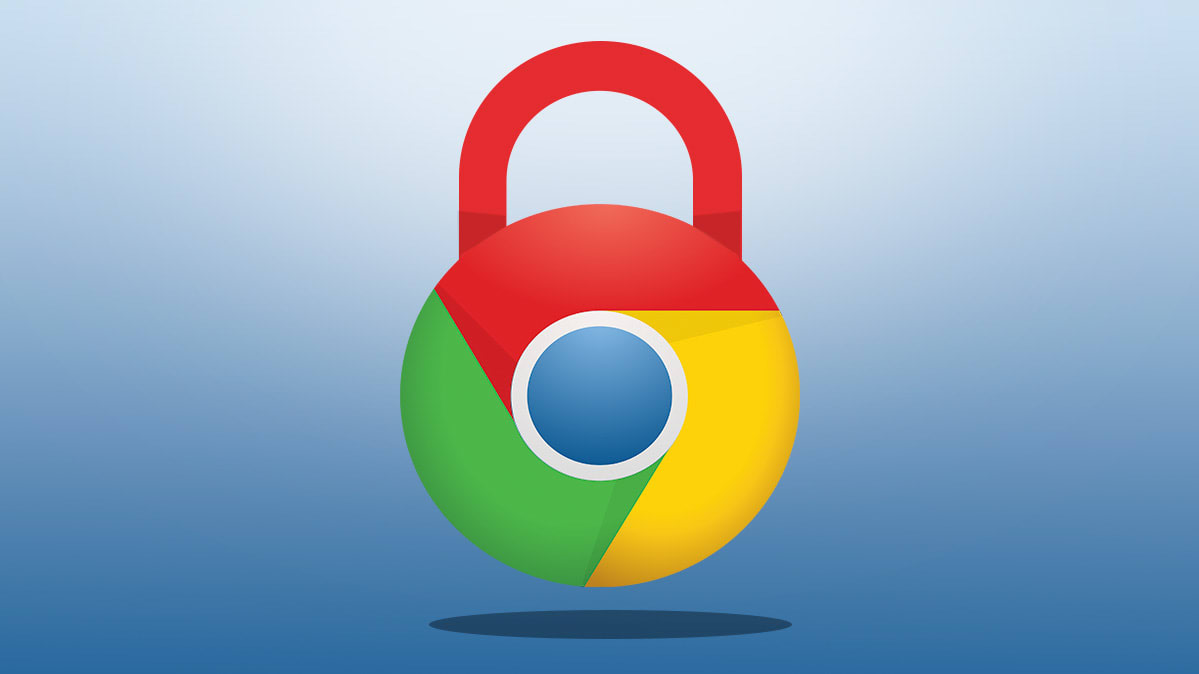 An image of the Google Chrome logo depicted as a lock.