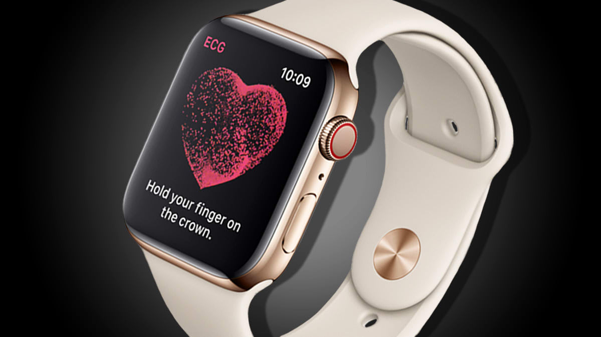 Apple Watch Series 4 with ECG function turned on.