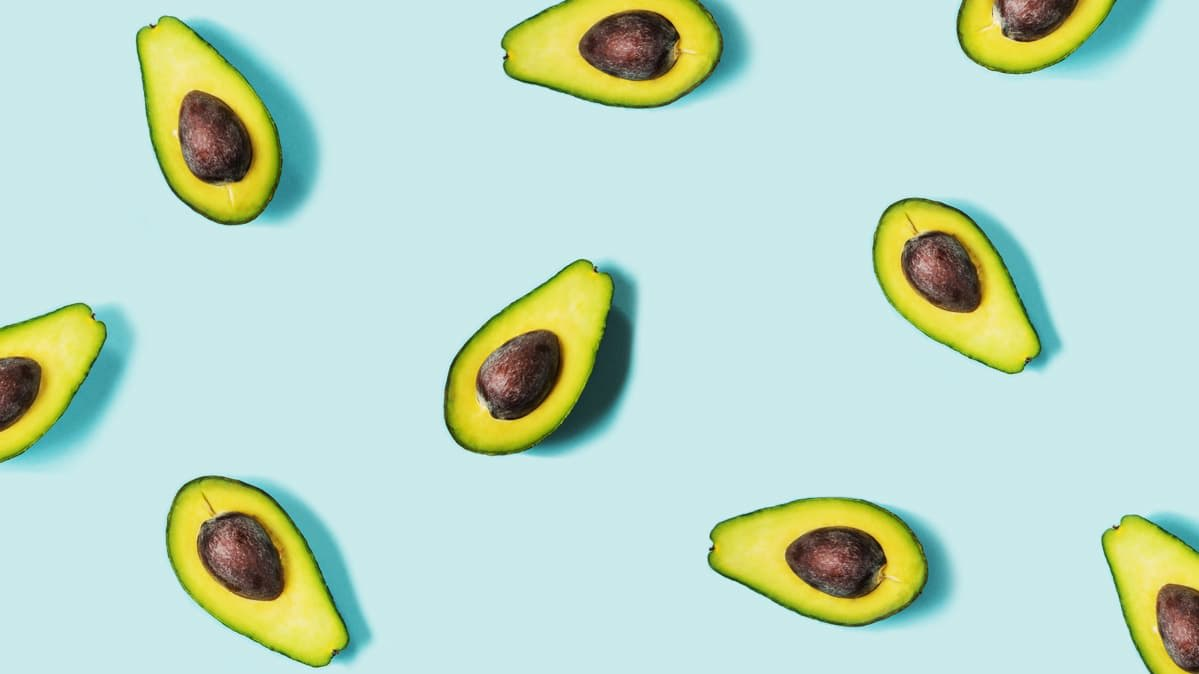 An illustration of avocados.