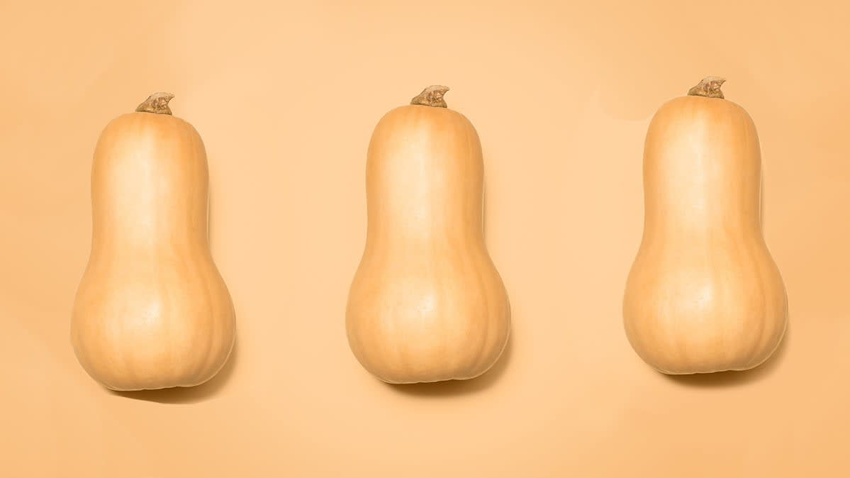 Three butternut squashes.