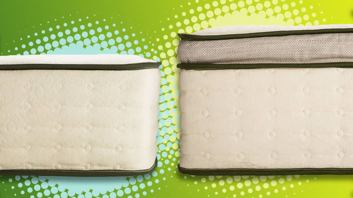 The Avocado Green (left) and Avocado Green Pillowtop (right) mattresses.