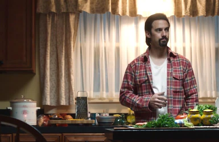 The character Jack Pearson with the slow cooker on This is Us.