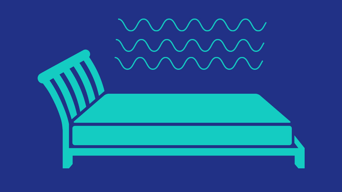 An illustration of a bed