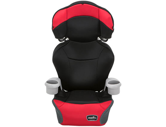 A booster car seat for children.
