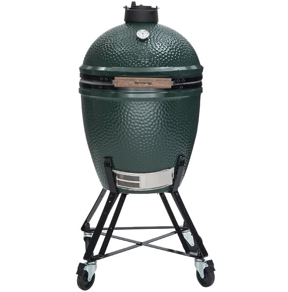 The Big Green Egg—an example of a Kamado charcoal grill.