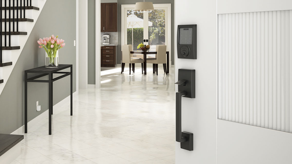 A Schlage smart door lock