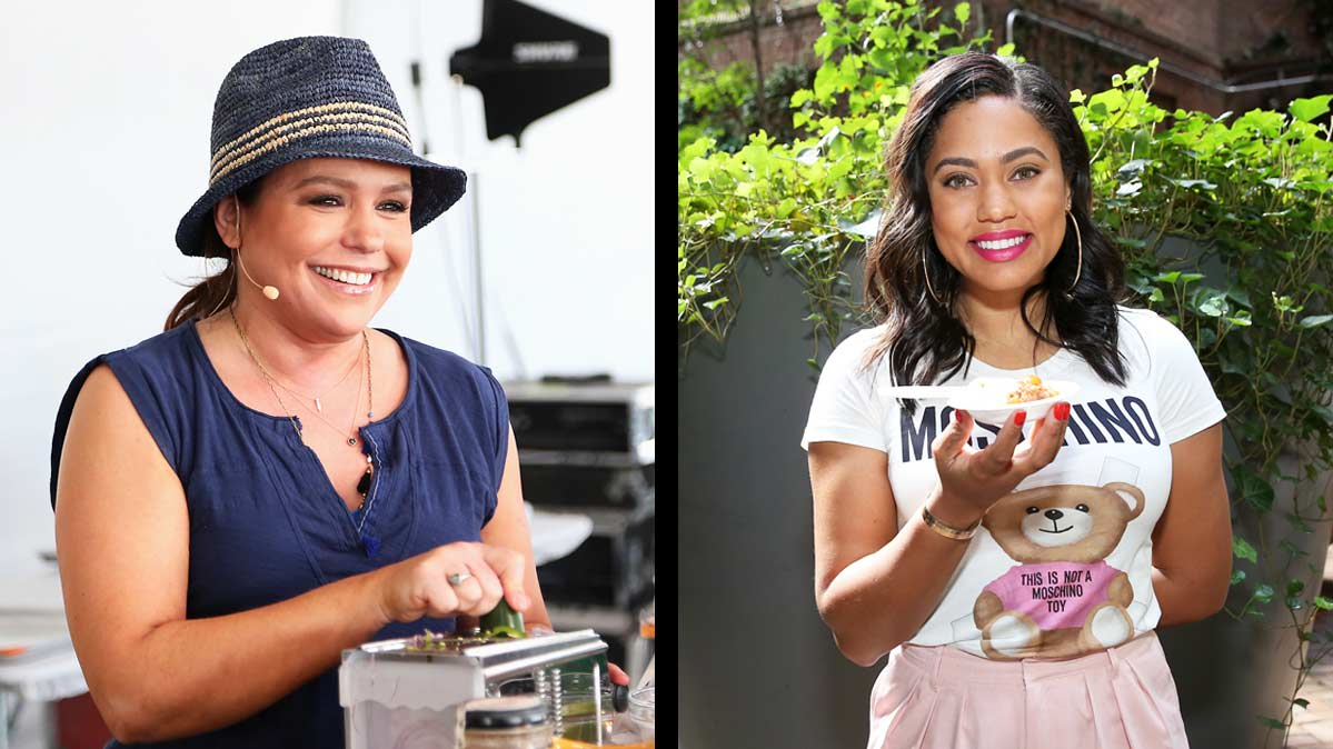 Celebrity chefs Rachael Ray and Ayesha Curry.