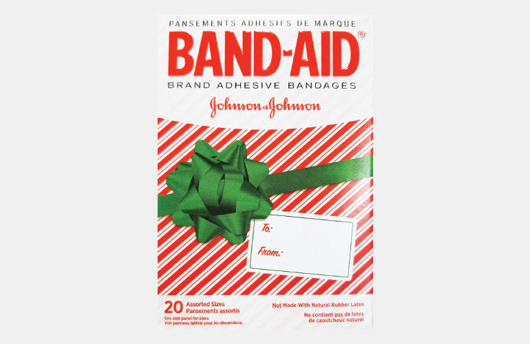 Band-Aids in a gift box.