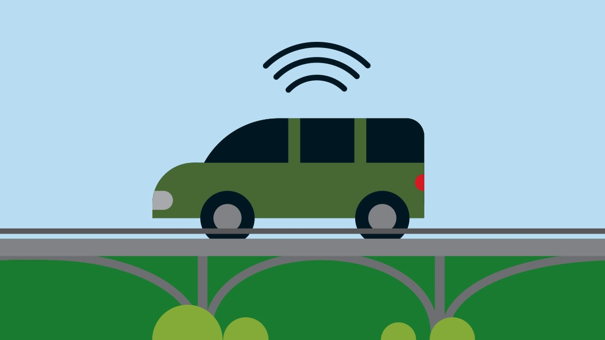 A vehicle equipped with wifi
