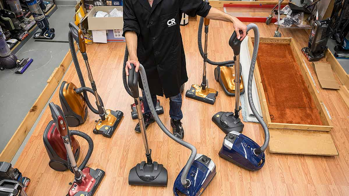 Conducting the best canister vacuum tests in Consumer Reports' labs.