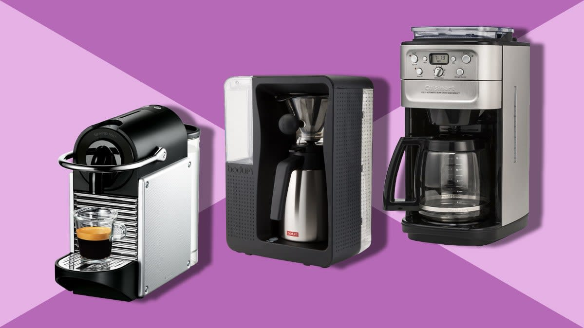 Three of the fastest coffee makers from CR's tests.