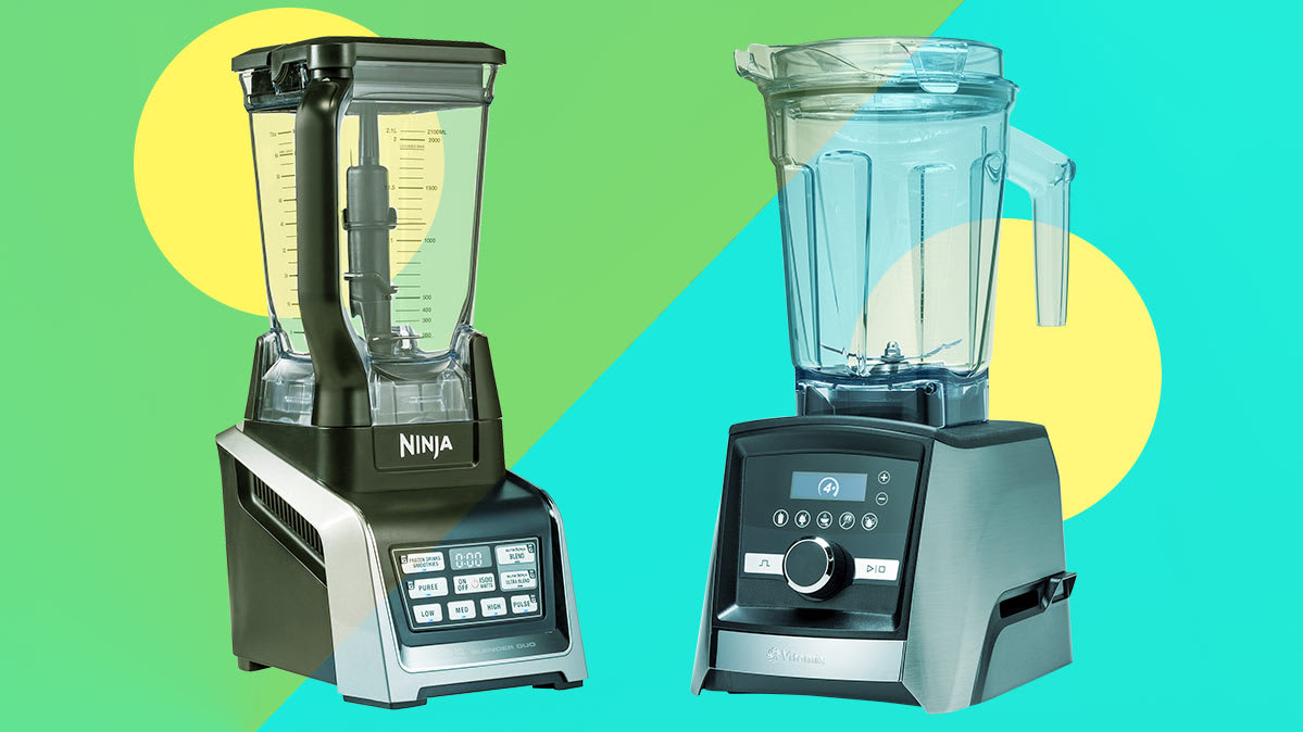 A Ninja and a Vitamix blender