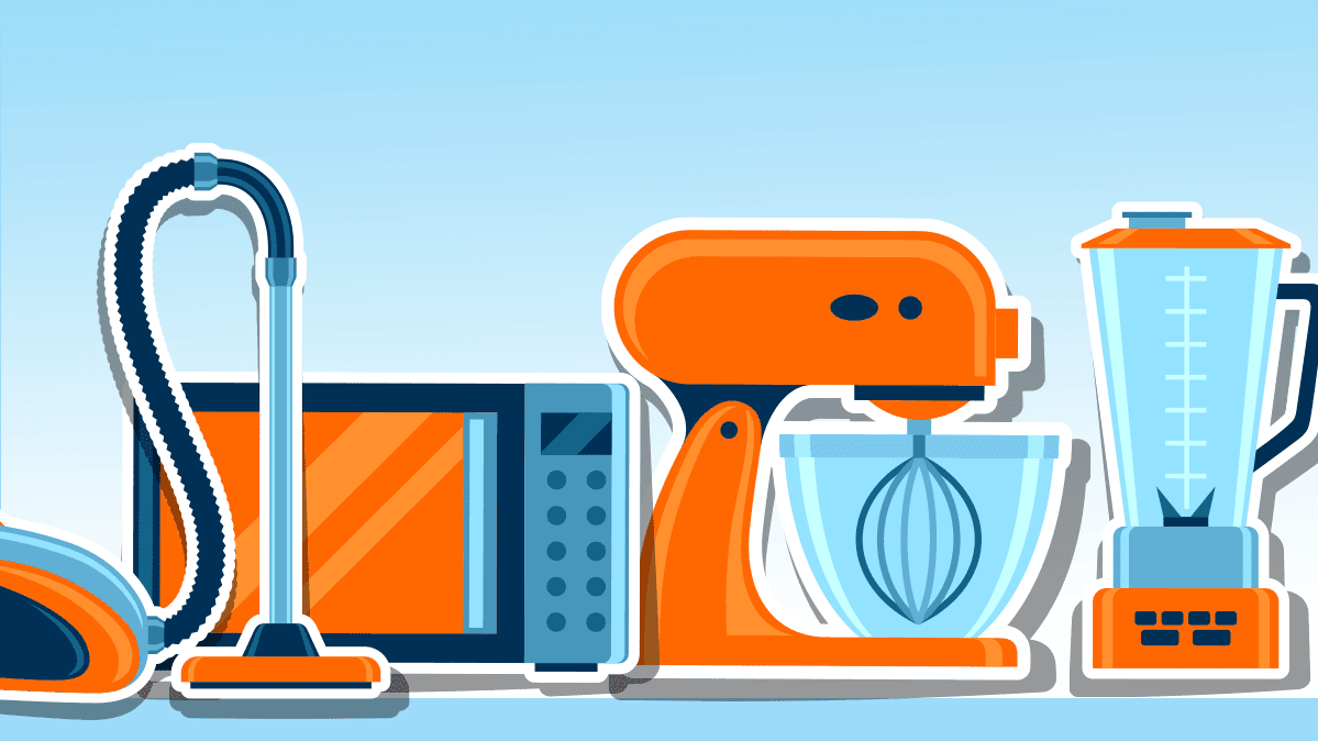 Illustration of small appliances
