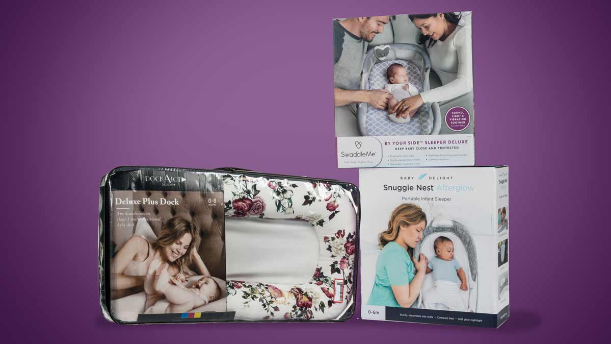 n-bed sleepers such as the SwaddleMe By Your Side Sleeper, the Baby Delight Snuggle Nest Infant Sleeper, and the DockATot, have been associated with at least 12 deaths.