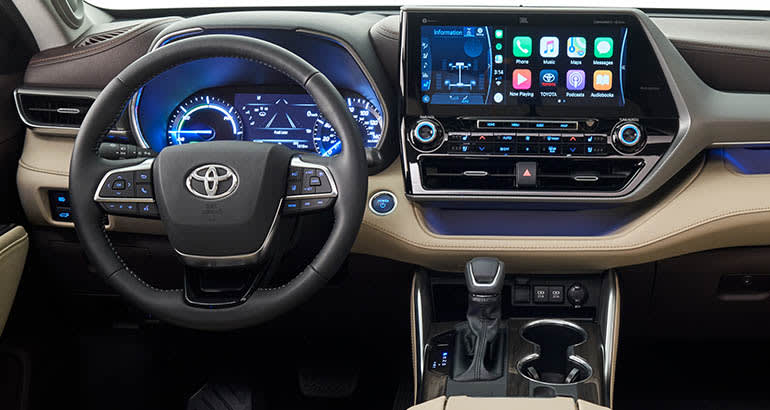 2020 Toyota Highlander interior dash
