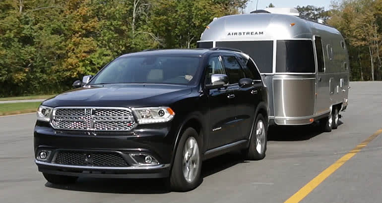 2014 Dodge Durango towing an Airstream trailer