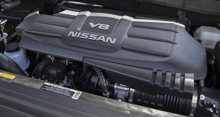 Nissan Titan V8 engine