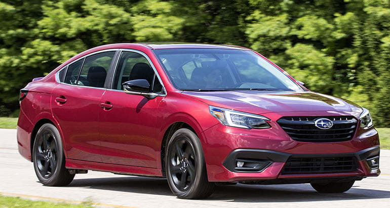 2020 Subaru Legacy is among the best new cars for teen drivers.