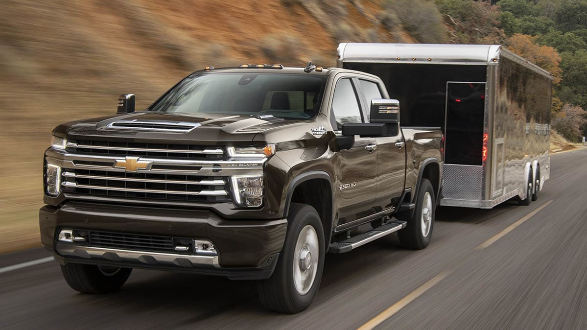 2020 Chevrolet Silverado 2500HD demonstrating safe towing