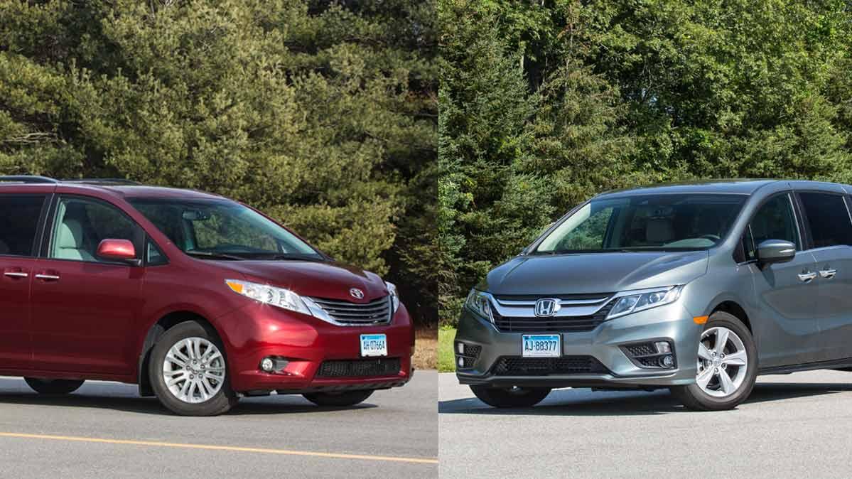 Honda Odyssey Vs Toyota Sienna >> Minivan Face Off Toyota Sienna Vs Honda Odyssey Consumer