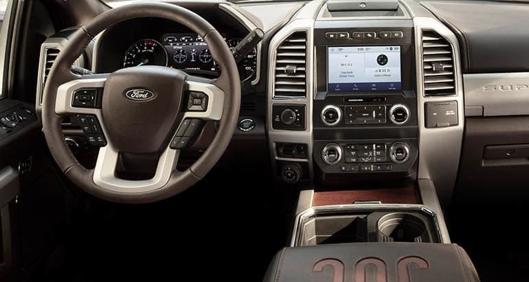 2020 Ford Super Duty Pickup Truck interior