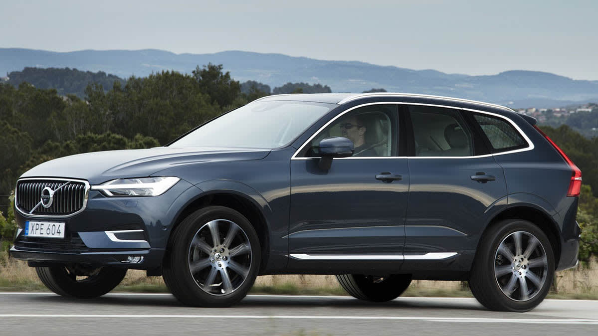 A 2018 Volvo XC60, which is part of a recall