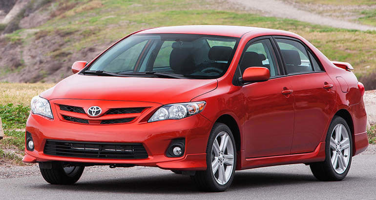 The 2013 Toyota Corolla is part of the Toyota Takata recall