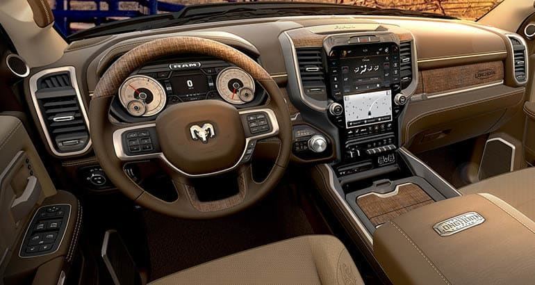 2019 Ram HD pickup truck interior