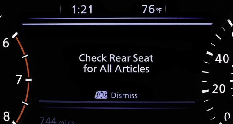 Nissan Rear Seat Reminder