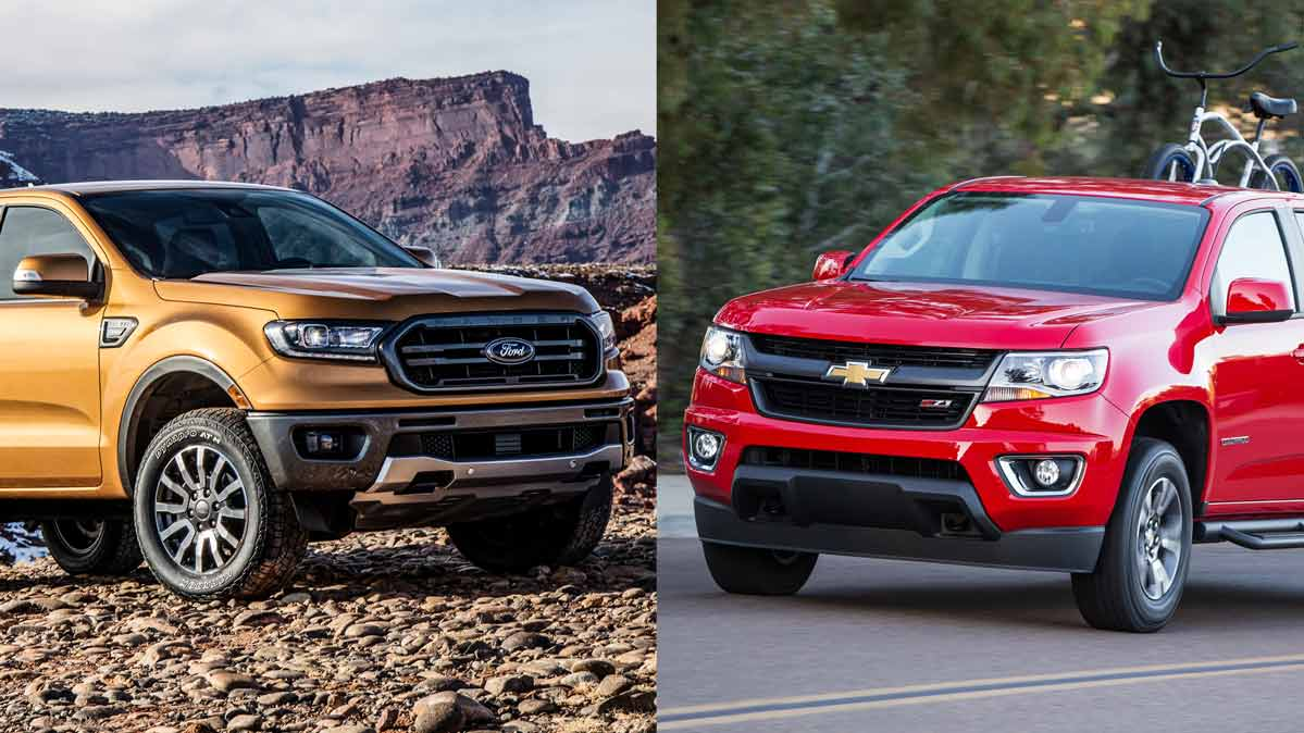The Ford Ranger and Chevrolet Colorado.