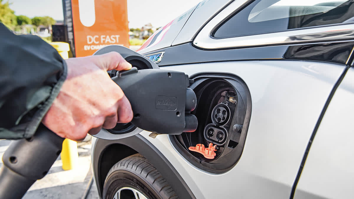 Chevrolet Bolt using EV Charging Stations