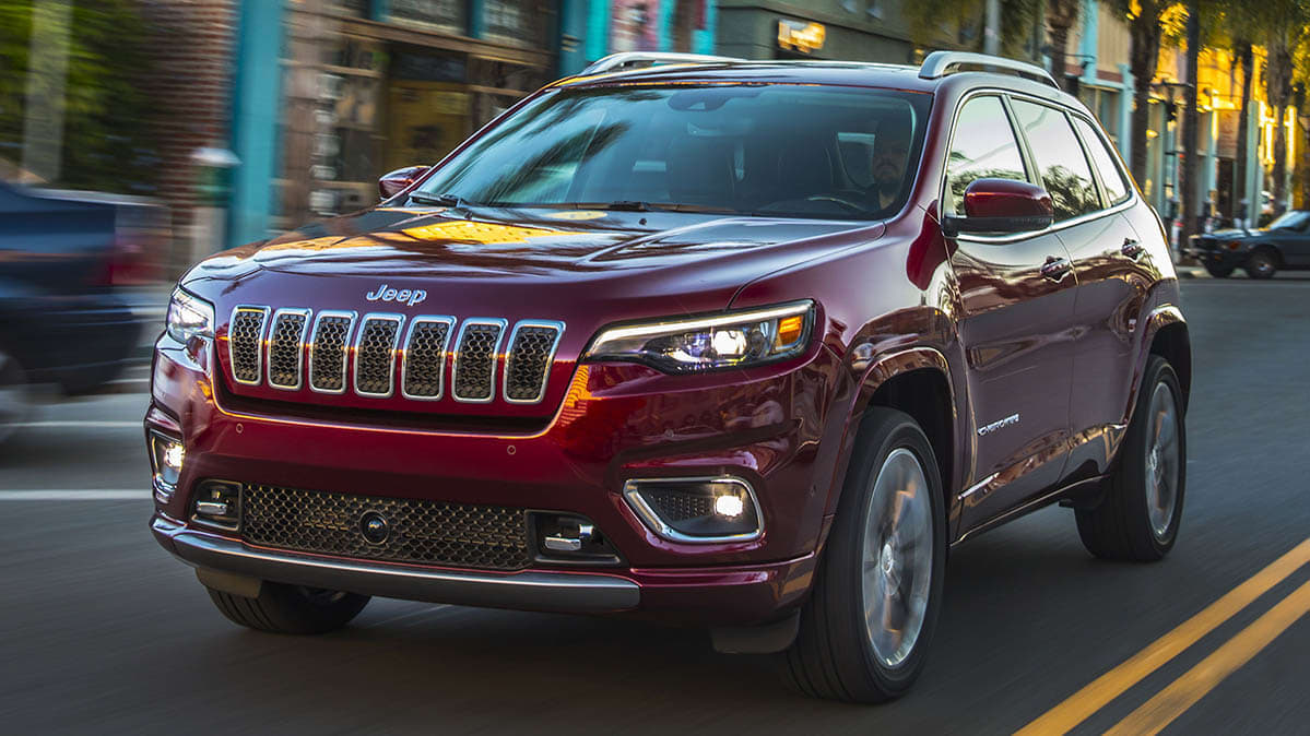 A recalled Jeep Cherokee model.