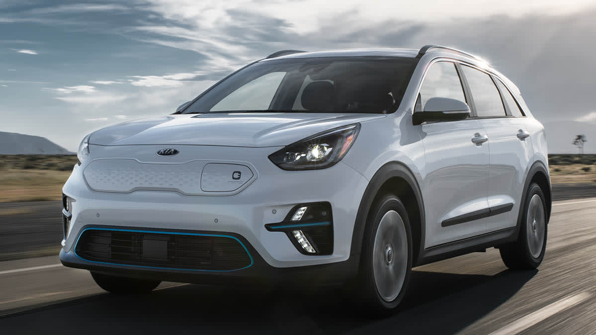 2019 Niro EV electric car driving