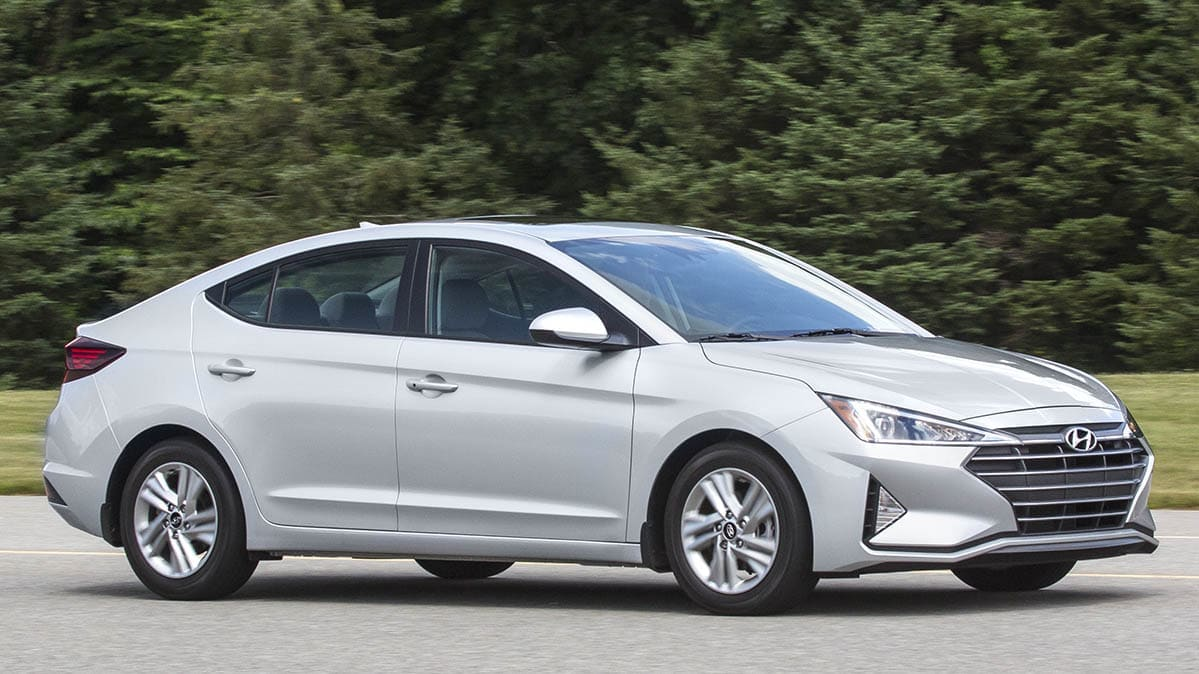 2020 Hyundai Elantra driving for review