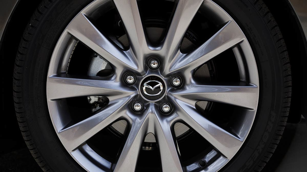 2019 Mazda3 recall for lug nuts (wheel shown).