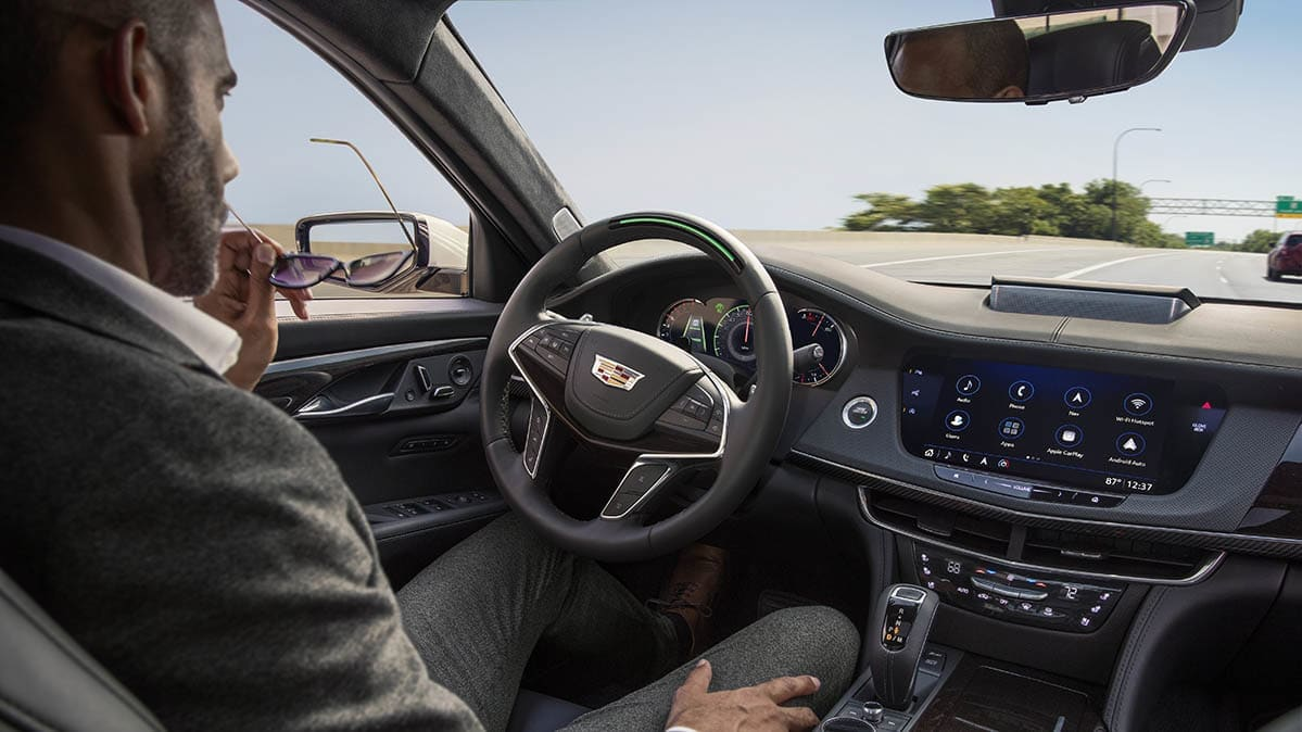 Cadillac CT6 demonstrating the Super Cruise automated driving system.