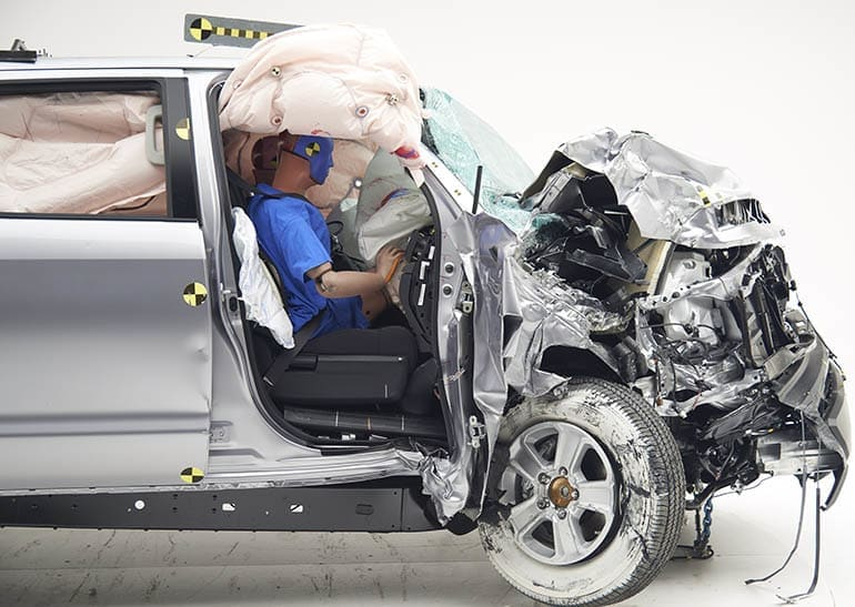pickup truck crash test — the Toyota Tundra