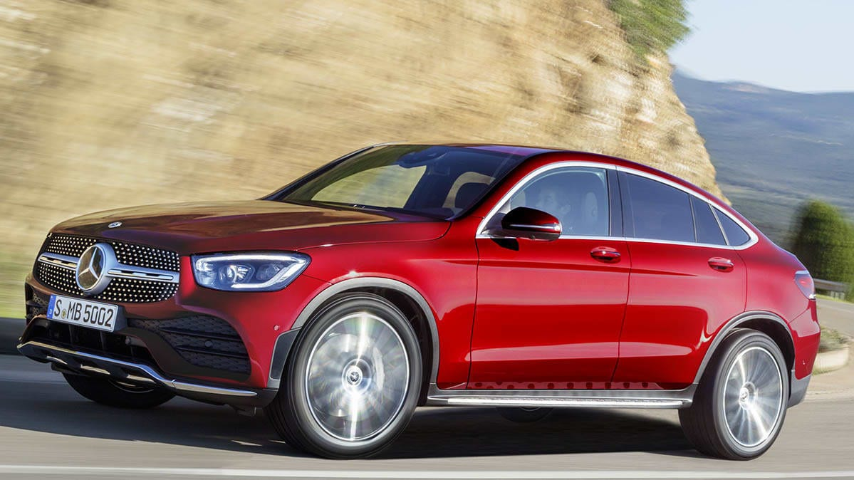 2020 Mercedes-Benz GLC Coupe front driving