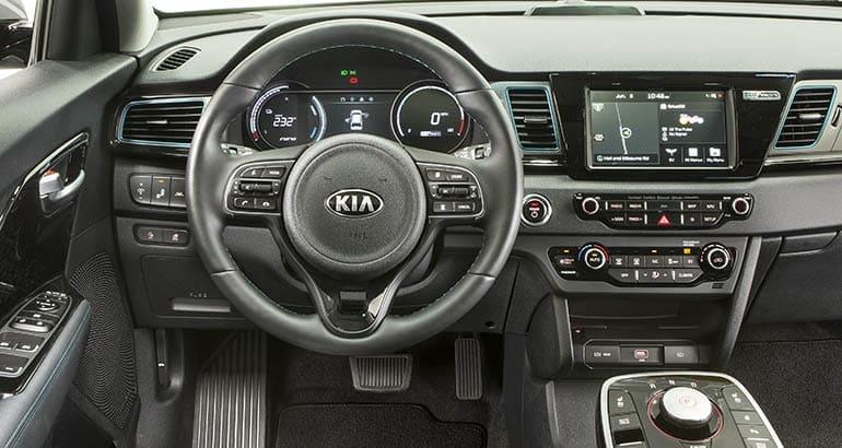 Kia Niro Interior >> 2019 Kia Niro Ev Is Practical And Roomy Consumer Reports