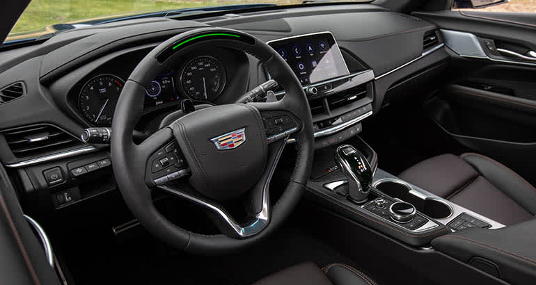Super Cruise steering wheel in Cadillac CT4-V
