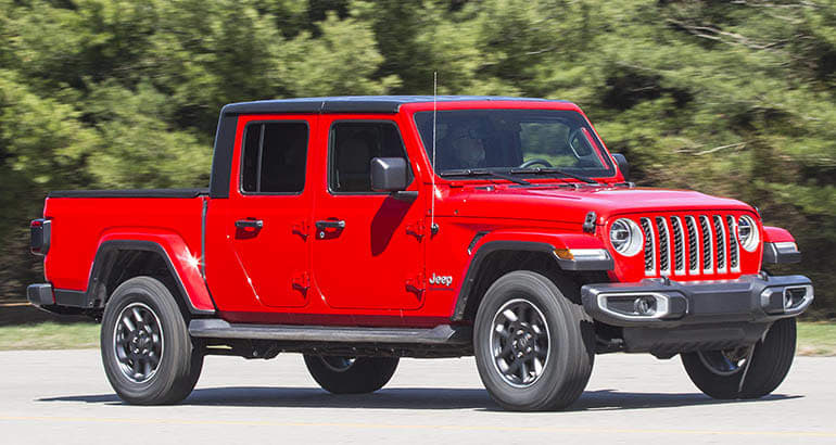 2020 Jeep Gladiator front, driving on road