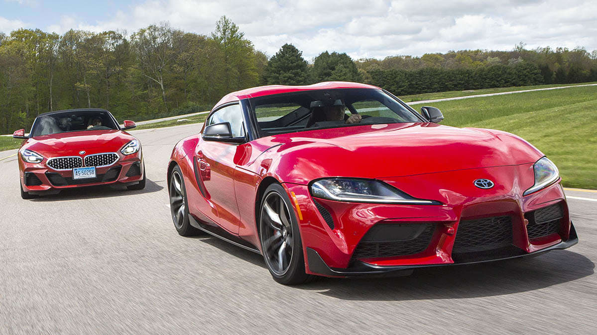 2020 Toyota Supra and 2019 BMW Z4