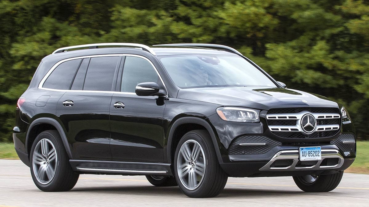 2020 Mercedes-Benz GLS review, front driving view