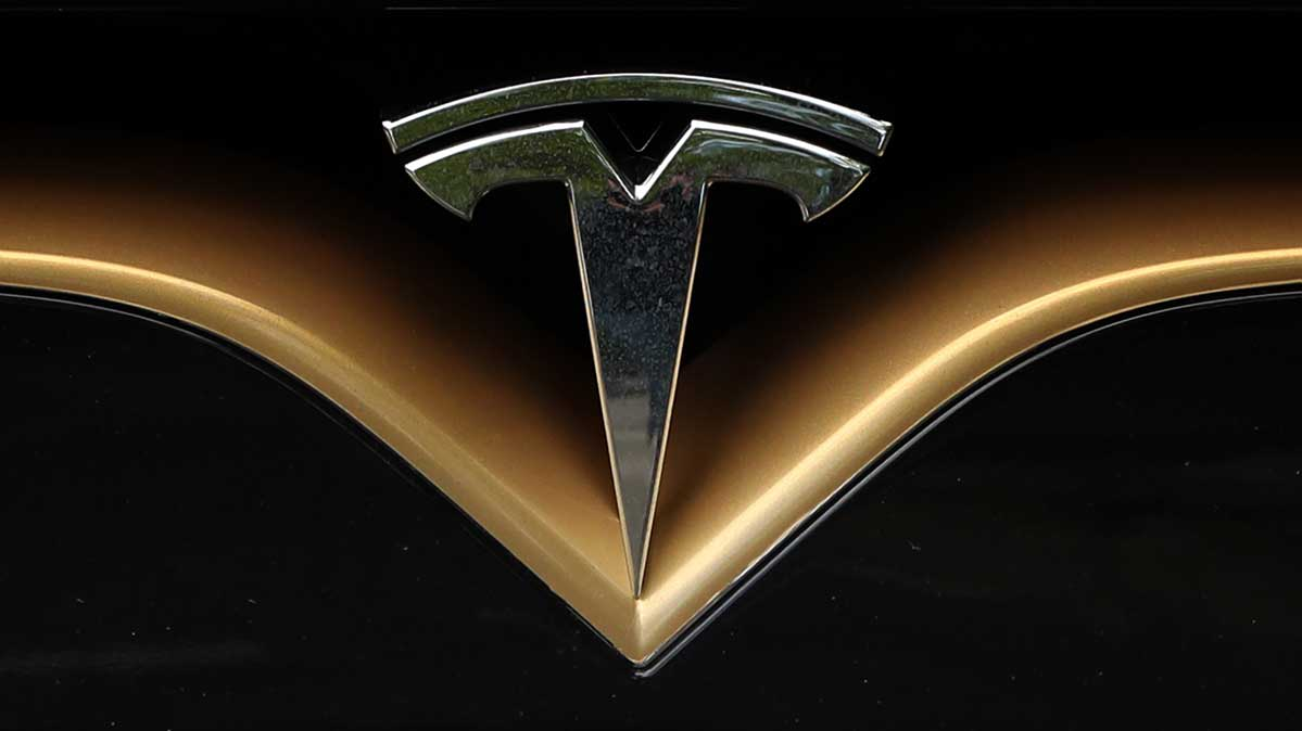The Tesla automaker logo